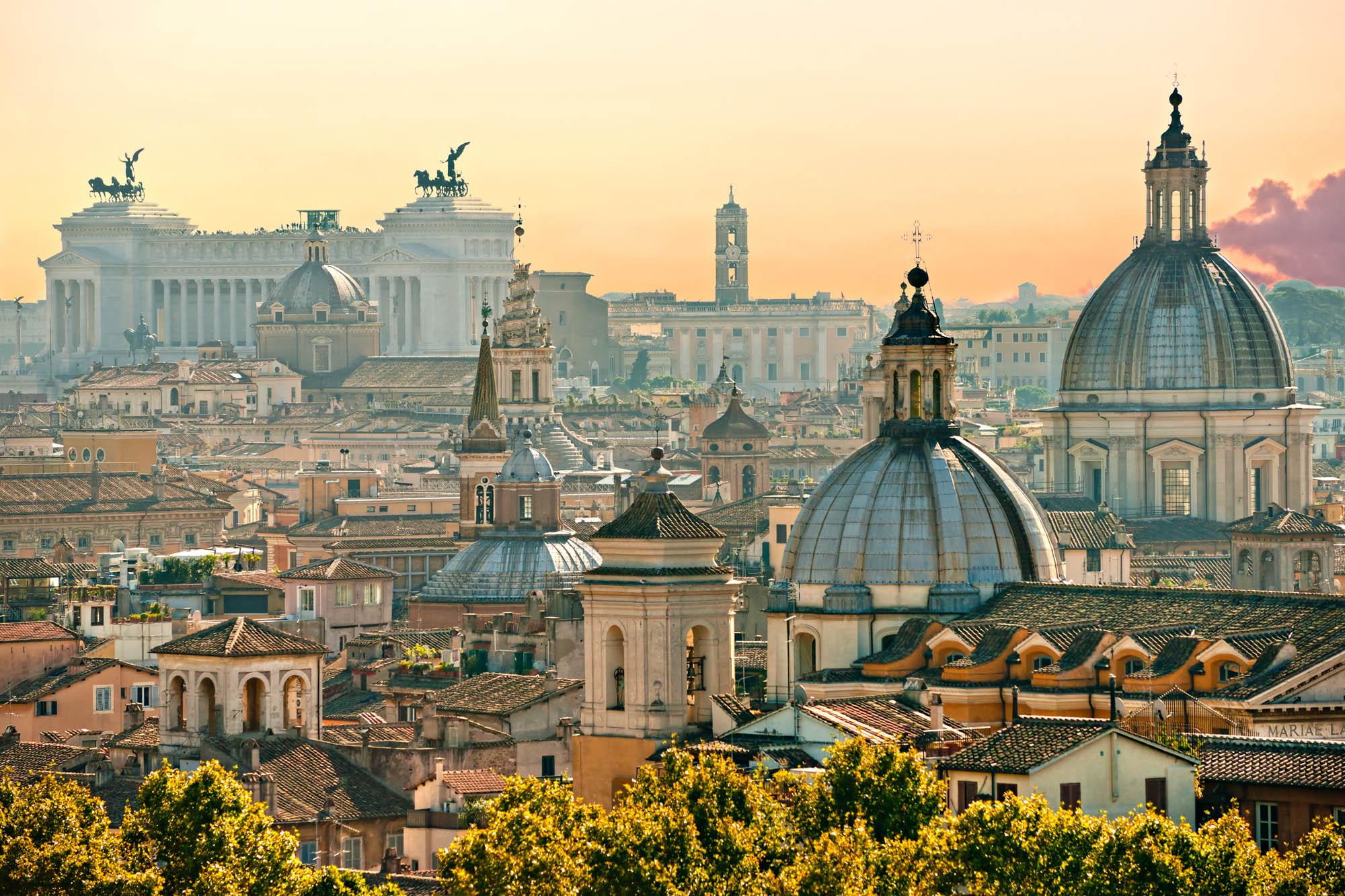 Blick auf Rom von Castel Sant ' Angelo, Italien
